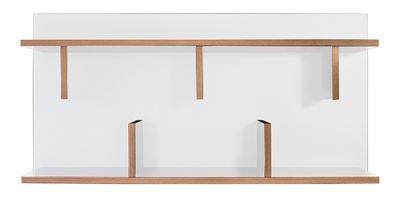 Möbel - Regale und Bücherregale - Rack Regal / L 90 x H 45 cm - POP UP HOME - Weiß / Seitenränder: holzfarben - Melamin