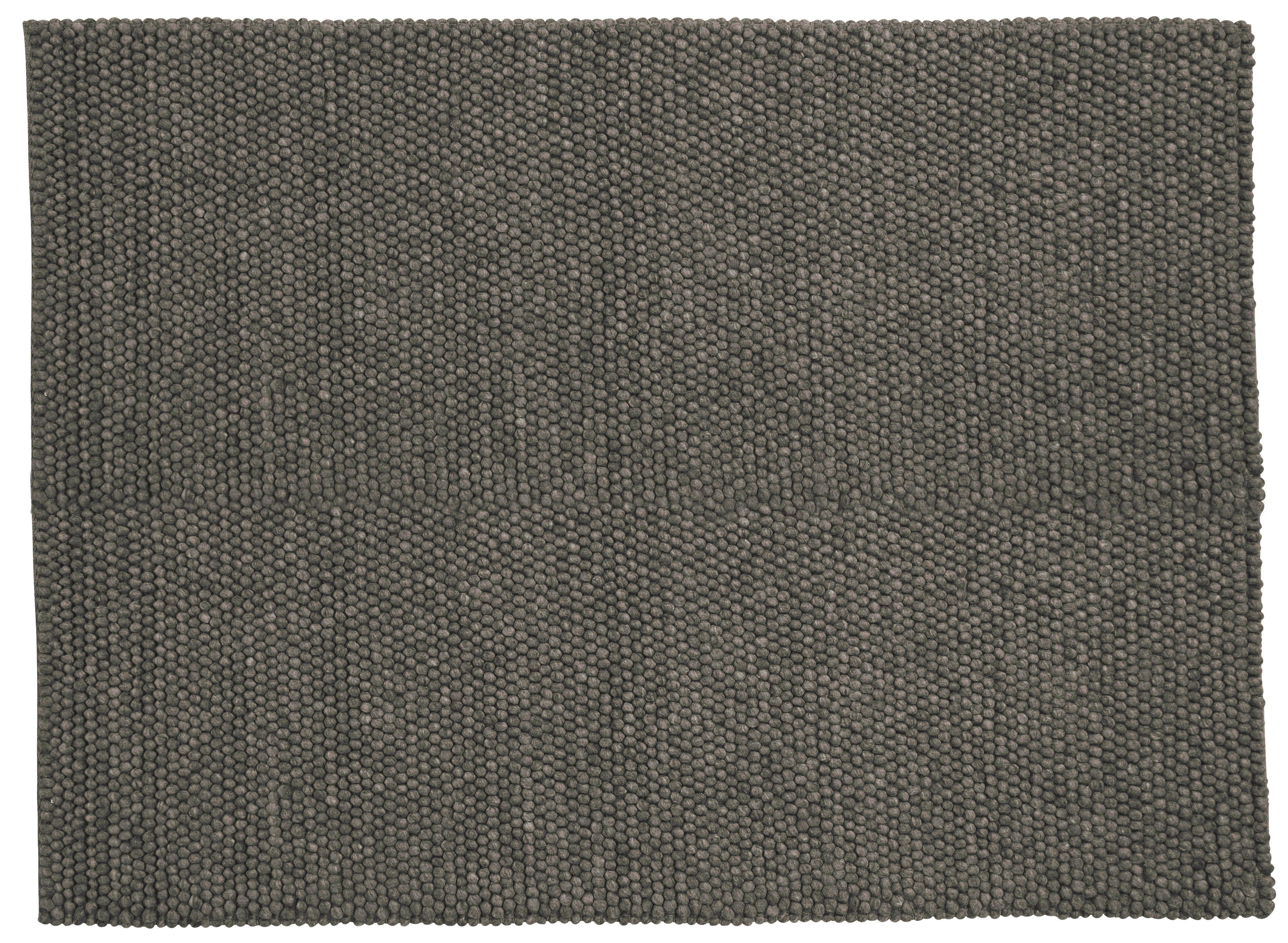 Decoration - Rugs - Peas Rug - 140 x 200 cm by Hay - Dark grey - Wool