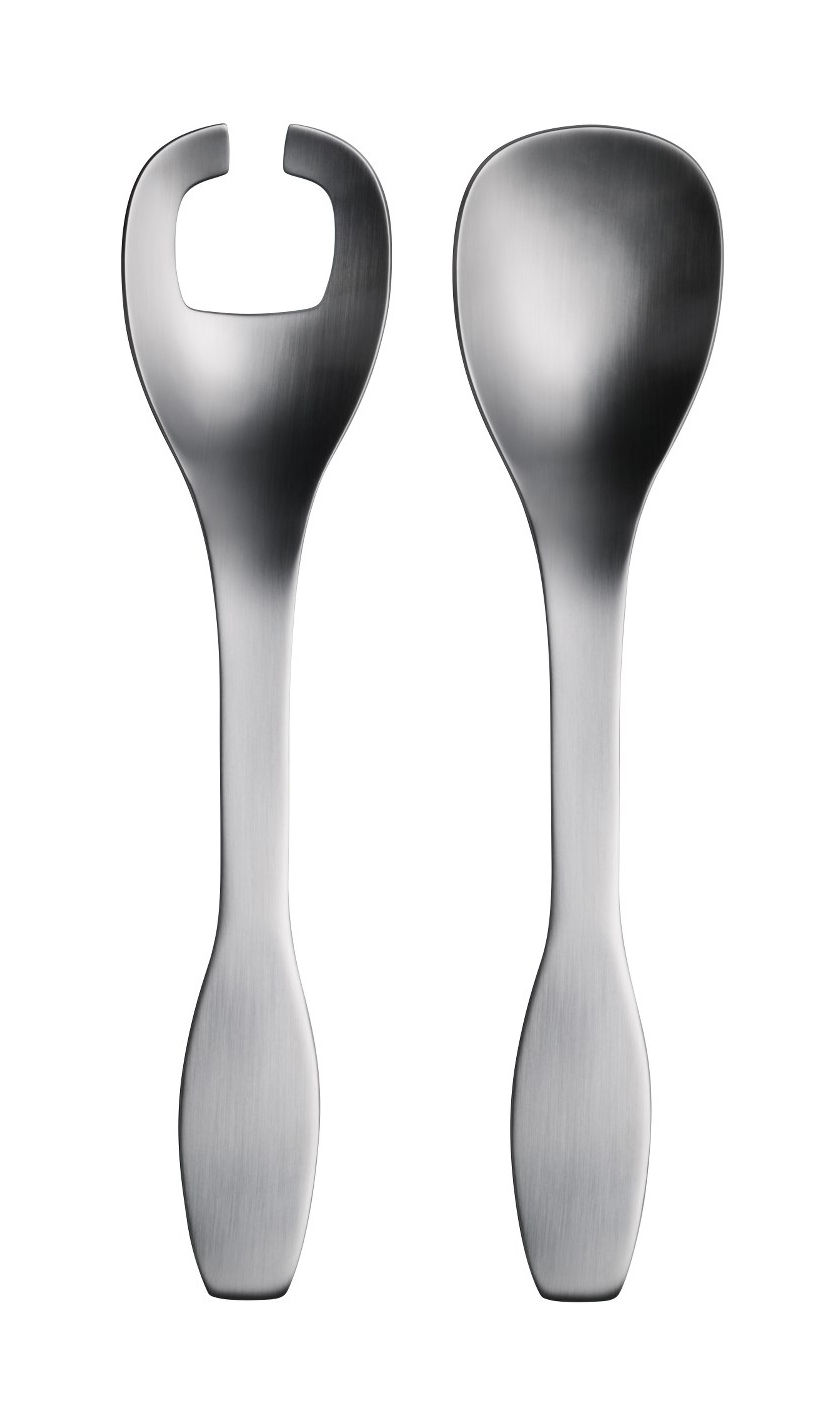 Tableware - Serving Cutlery - Collective Tools Salad servers by Iittala - Brushed steel - Stainless steel