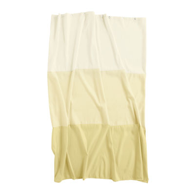 Accessories - Bathroom Accessories - Aquarelle Horizontal Shower curtain - / 200 x 180 cm by Hay - Horizontal strips / Yellow - Waterproof polyester