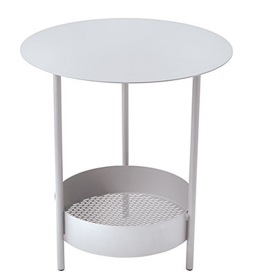 Furniture - Coffee Tables - Salsa Small table - Ø 50 x H 50 cm by Fermob - Cotton white - Steel