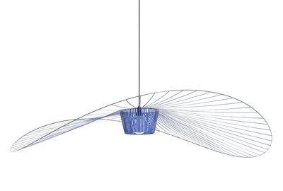 Illuminazione - Lampadari - Sospensione Vertigo Large - / Ø 200 cm di Petite Friture - Blu cobalto - Fibra di vetro, Poliuretano