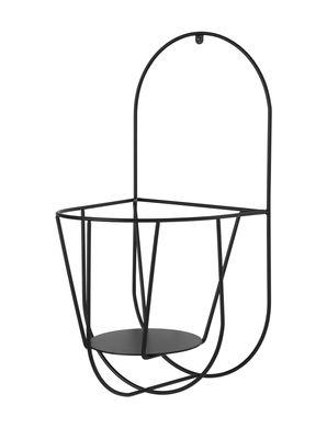 Outdoor - Vasi e Piante - Supporto a parete per vaso di fiori Cibele Wall / H 46 cm - OK Design per Sentou Edition - Nero - Metallo