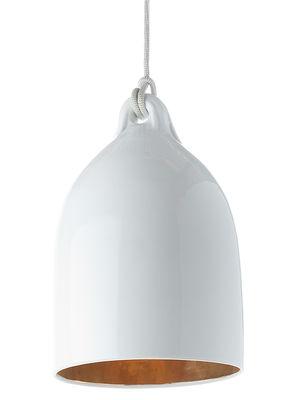 Luminaire - Suspensions - Suspension Bufferlamp - Pols Potten - Blanc brillant & Intérieur doré - Porcelaine