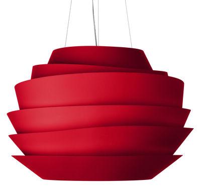 Suspension Le soleil - Foscarini rouge en matière plastique