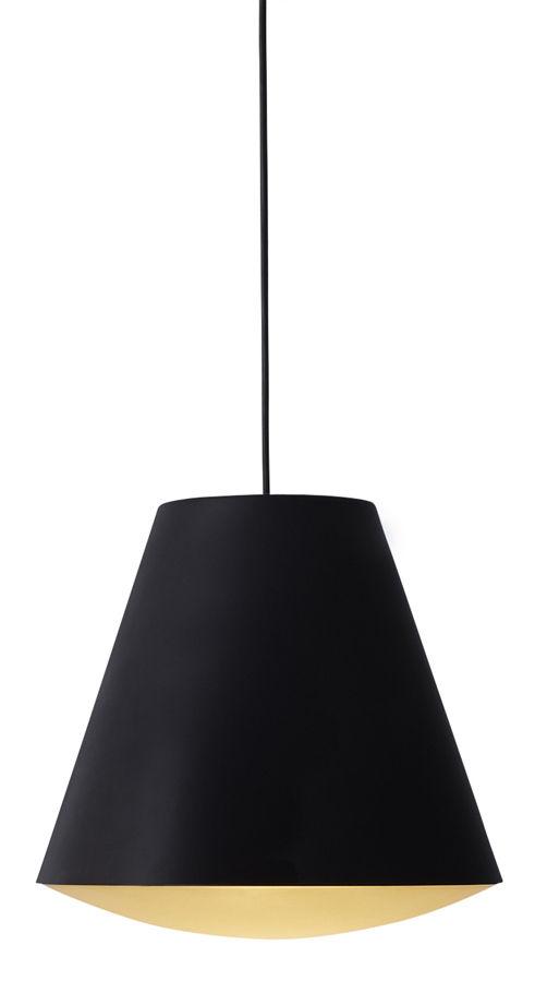 Luminaire - Suspensions - Suspension Sinker / Ø 23 x H 19 cm - wrong.london - Noir - Acrylique