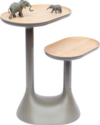 Table basse Baobab /2 plateaux pivotants - Moustache gris en bois
