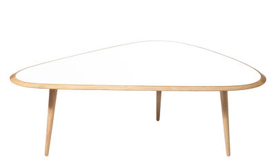 Mobilier - Tables basses - Table basse Large / 130 x 85 cm - Laque - RED Edition - Blanc laqué - Chêne massif, Laque traditionnelle