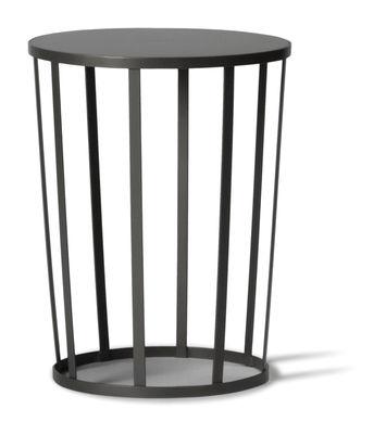 Table d'appoint Hollo / Tabouret - Ø 35 x H 44 cm - Petite Friture gris/noir en métal