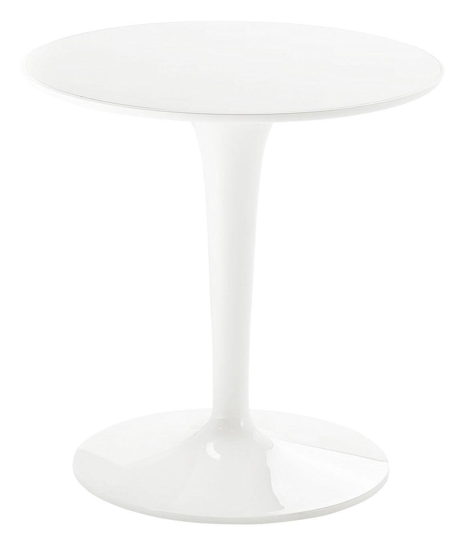 table d 39 appoint tip top mono monochrome plateau pmma laqu blanc kartell. Black Bedroom Furniture Sets. Home Design Ideas