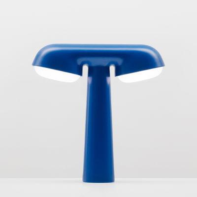Lighting - Table Lamps - Lampe TGV Table lamp - / Moustache & SNCF joint creation by Moustache - Blue - Aluminium, Polycarbonate