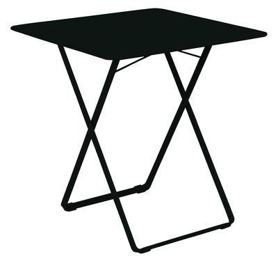 Outdoor - Tables de jardin - Table pliante Plein Air / 71 x 71 cm - Fermob - Réglisse - Acier galvanisé