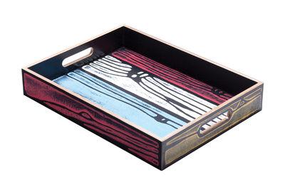 Tischkultur - Tabletts - Wrongwoods Tablett / 44 x 30 cm - Established & Sons - Mehrfarbig - bemaltes Furnier