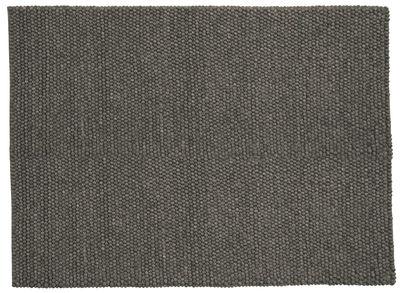 Interni - Tappeti - Tappeto Peas - / 140 x 200 cm di Hay - Grigio scuro - Lana