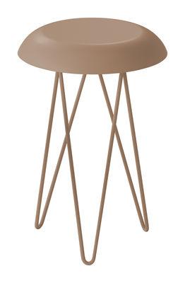 Image of Tavolino d'appoggio Meduse - H 44 cm di Casamania - Beige - Metallo
