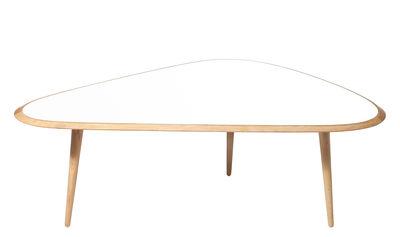 Arredamento - Tavolini  - Tavolino Large - / 130 x 85 cm - Lacca di RED Edition - Bianco laccato - Lacca tradizionale, Rovere massello