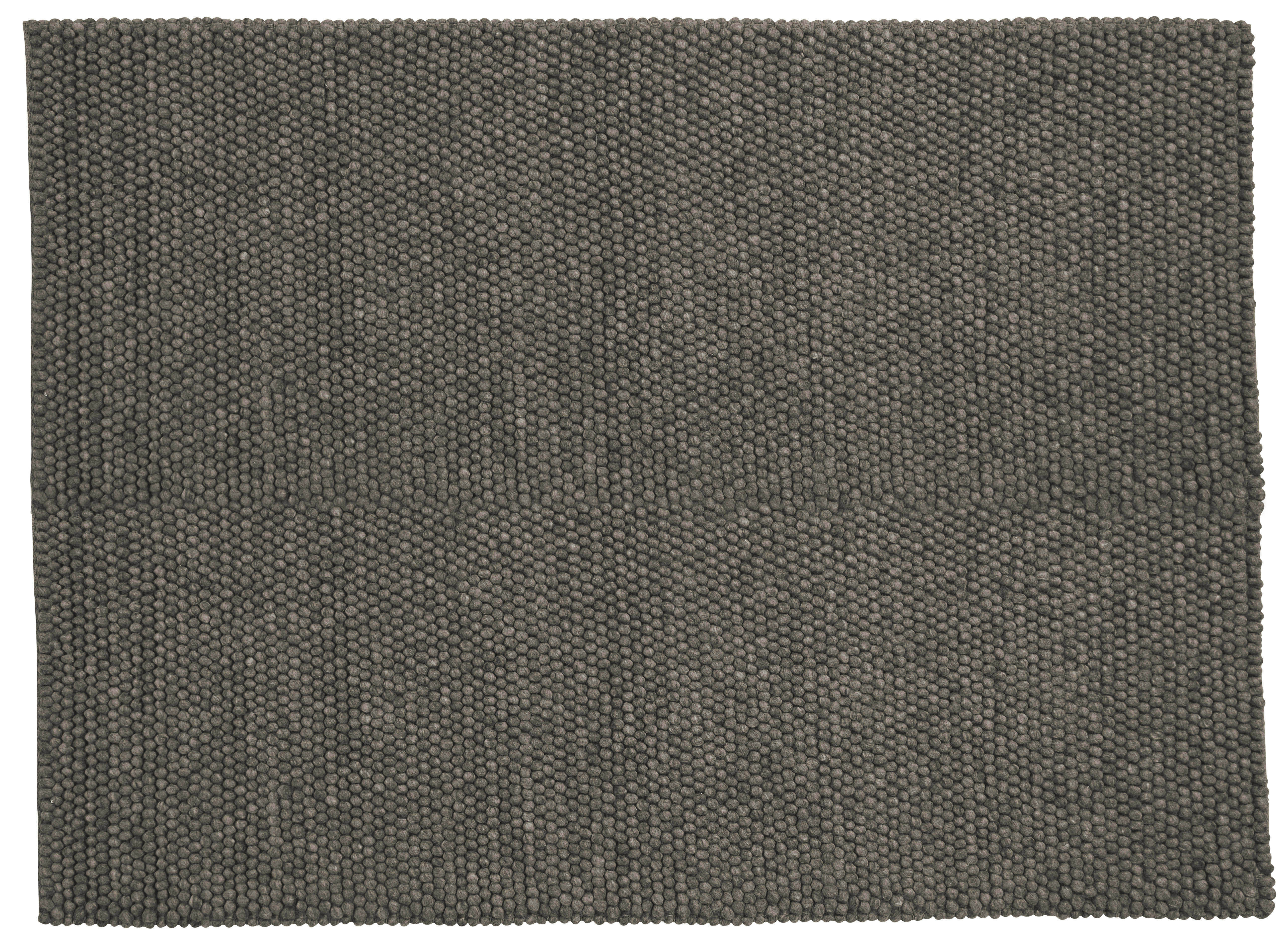 Dekoration - Teppiche - Peas Teppich / 140 x 200 cm - Hay - Dunkelgrau - Wolle