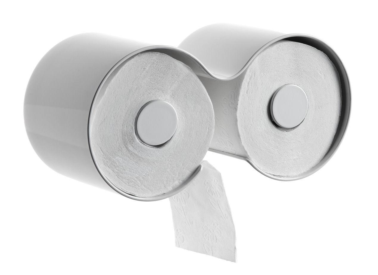 Toilet Paper Holder : Toilet paper dispenser kali by authentics white l h