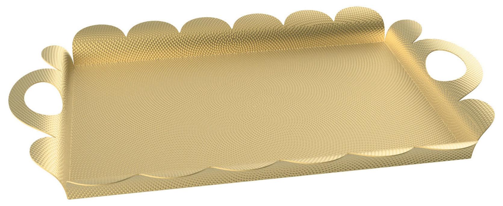 Tableware - Trays - Recinto Tray - / Brass - 52 x 35 cm by Alessi - Brass - Brass