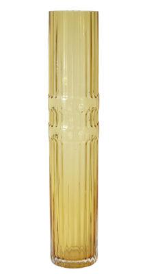 Déco - Vases - Vase Ondin Large / Ø 10 x H 50 cm - ENOstudio - Large / Jaune - Verre coloré