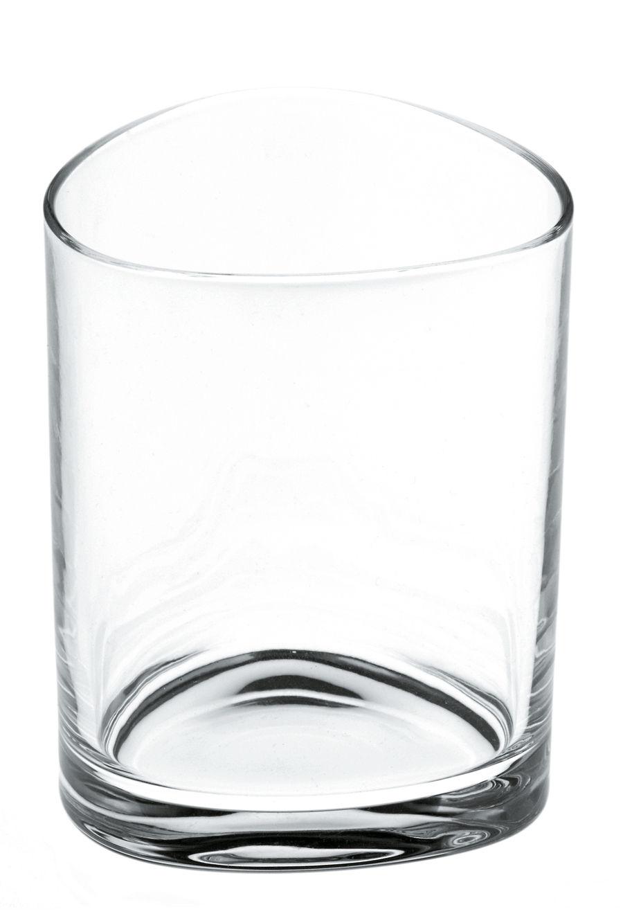 Arts de la table - Verres  - Verre à eau Colombina - Alessi - Cristal transparent -  H 9 cm - Verre