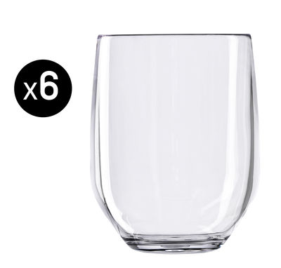Verre à whisky Vertical Party Beach / 42 cl - Lot de 6 - Italesse transparent en matière plastique