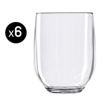 Verre à whisky Vertical Party Beach / 42 cl - Lot de 6 - Italesse transparent en matière plastique