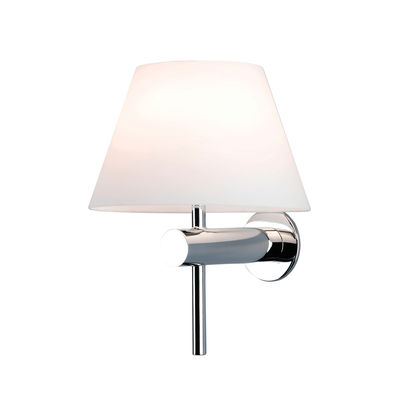 Lighting - Wall Lights - Roma Wall light - / Glass by Astro Lighting - Chrome-plated / White - Glass, Stainless steel