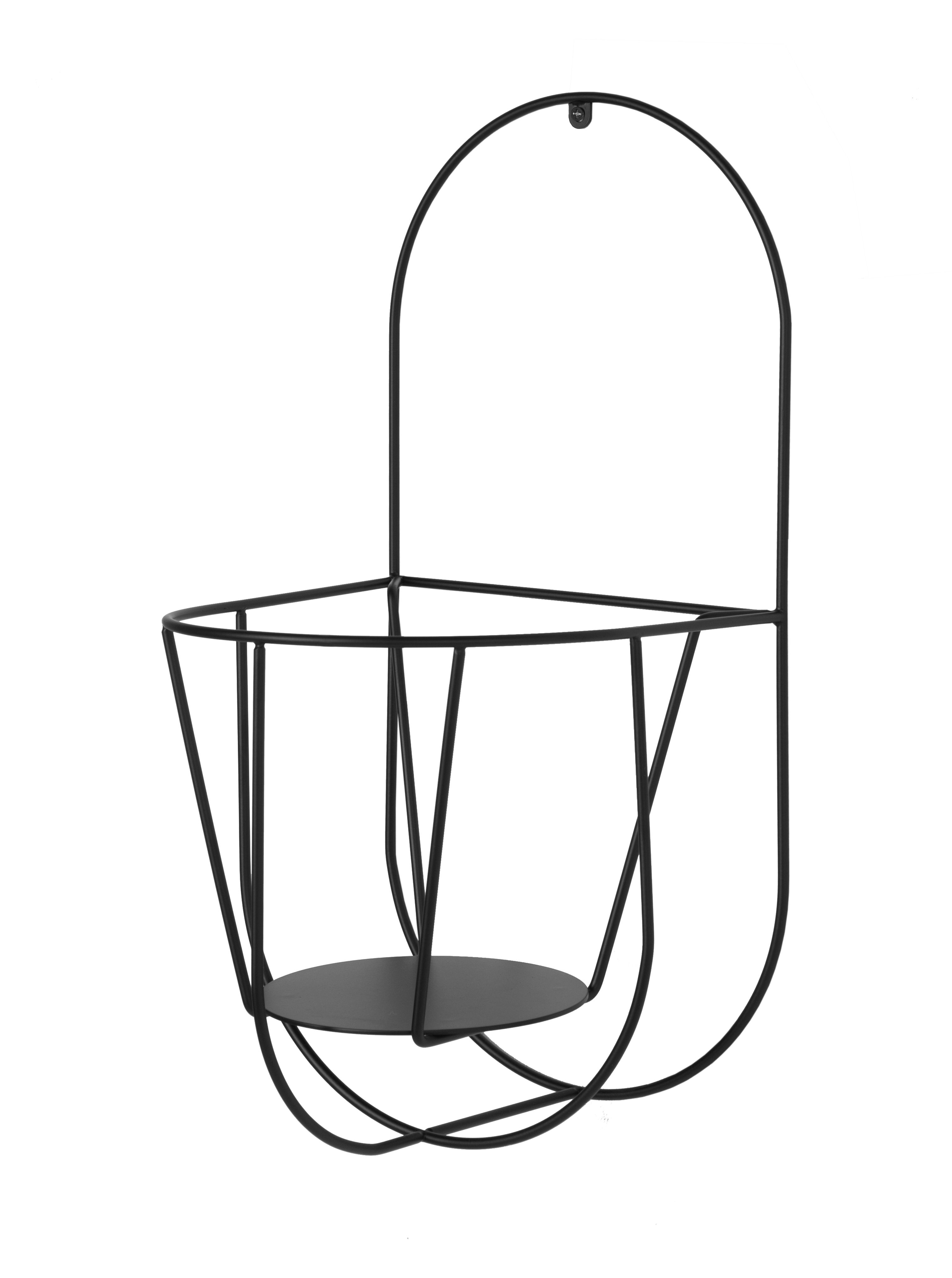 Outdoor - Pots & Plants - Cibele Wall Wall support for flower pots - Wall - H 46 cm by OK Design pour Sentou Edition - Black - Metal