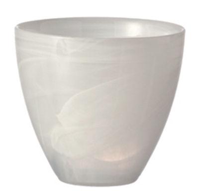 Dekoration - Kerzen, Kerzenleuchter und Windlichter - Alabastro Windlicht / H 9 cm - Leonardo - Weiß - Glas
