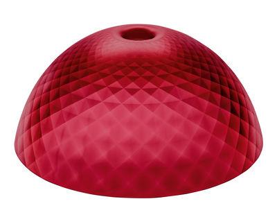 Abat-jour Stella XL / Ø 67 cm - Koziol rouge transparent en matière plastique