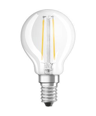 Ampoule LED E14 / Sphérique claire - 2,8W=25W (2700K, blanc chaud) - Osram transparent en verre