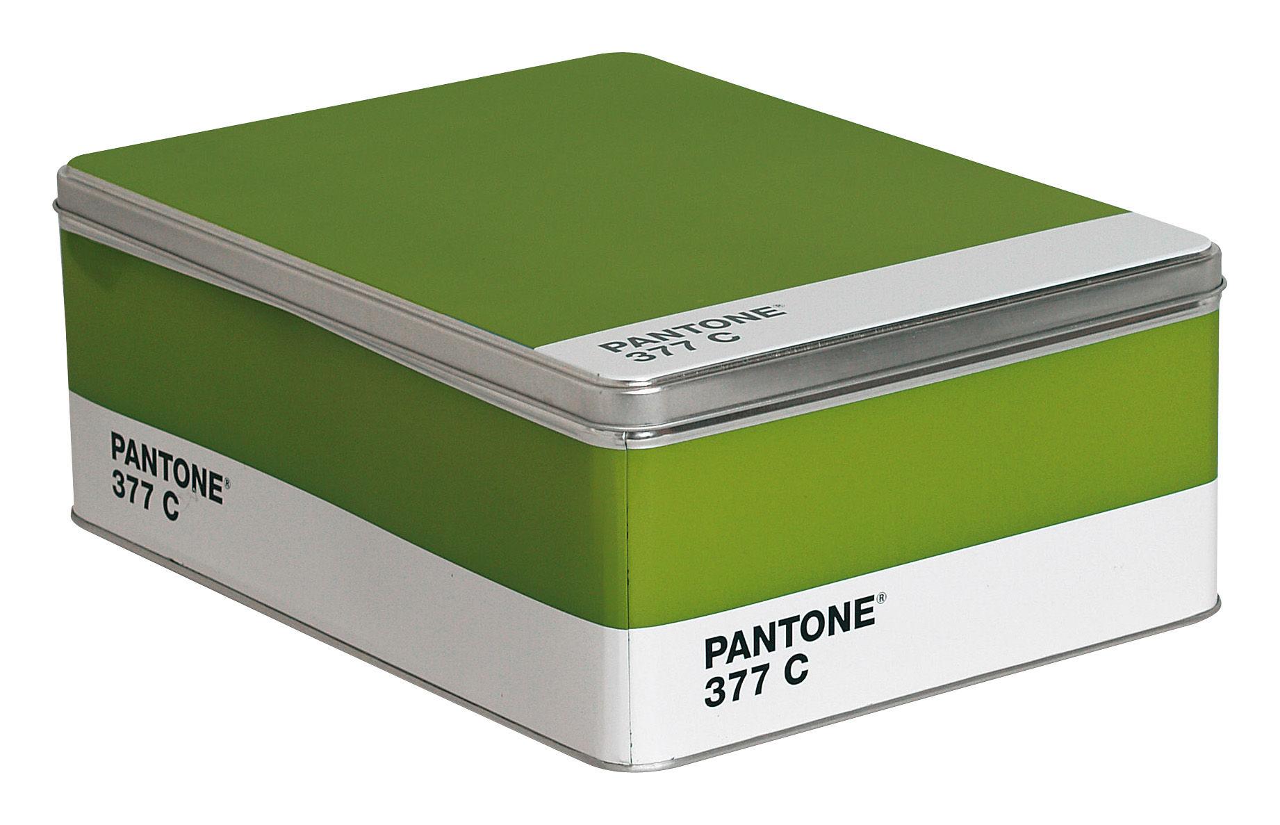 Déco - Pour les enfants - Boîte Pantone /H 11 cm - Seletti - 377C - Vert perroquet - Métal