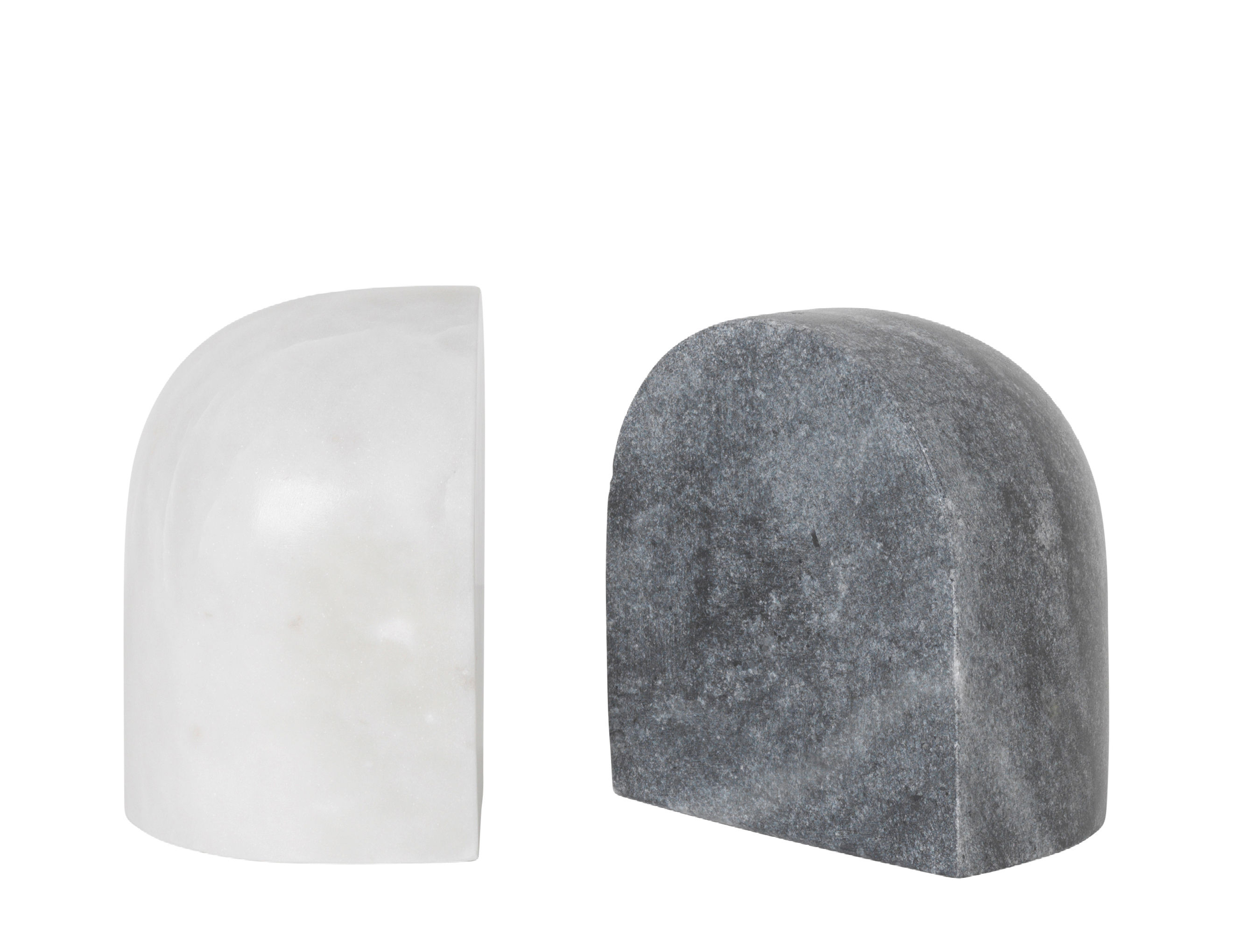Decoration - Home Accessories - Luru Book end - / Set of 2 - Marble by Ferm Living - Grey & white - Marble