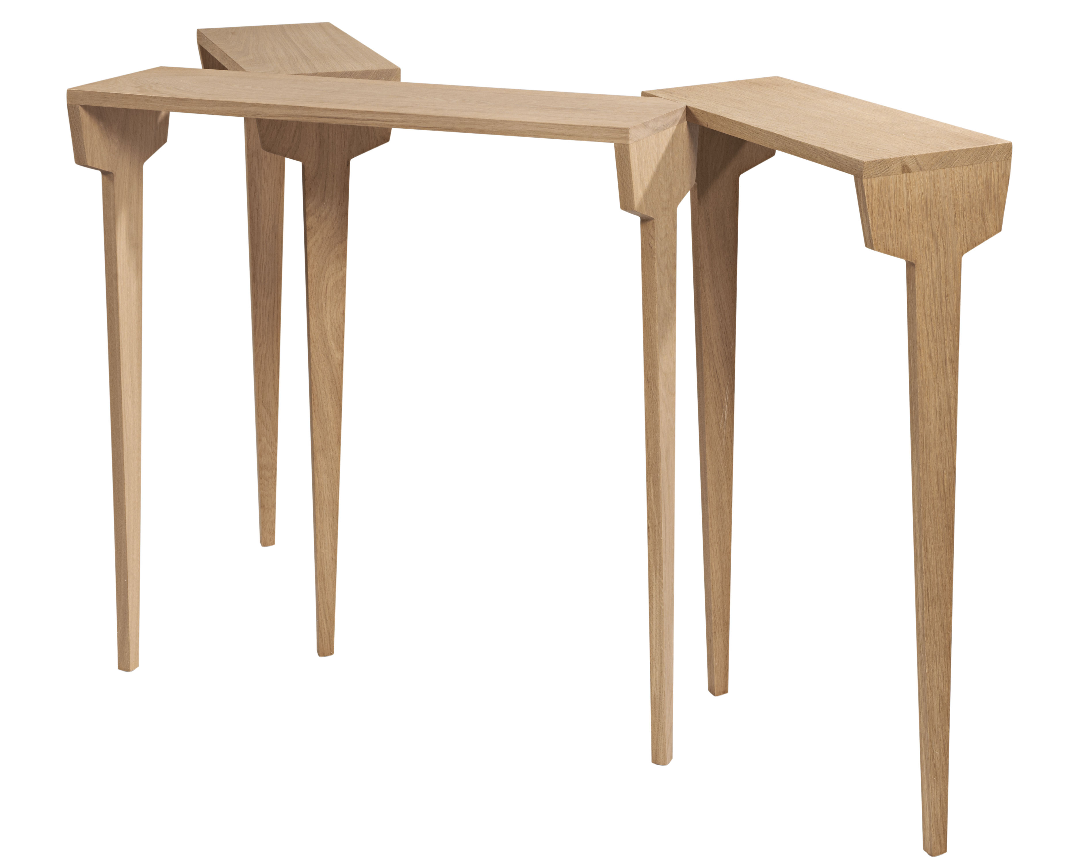 Mobilier - Consoles - Console Clou L 140 cm - Made in design Editions - Chêne massif - Chêne massif