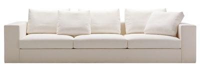 Arredamento - Divani moderni - Divano destro Beta - Tessuto - 3 posti di Zanotta - Tessuto - Crema variegato - Tessuto