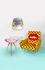 Toiletpaper - Lipsticks End table - / 57 x 57 x H 48 cm by Seletti