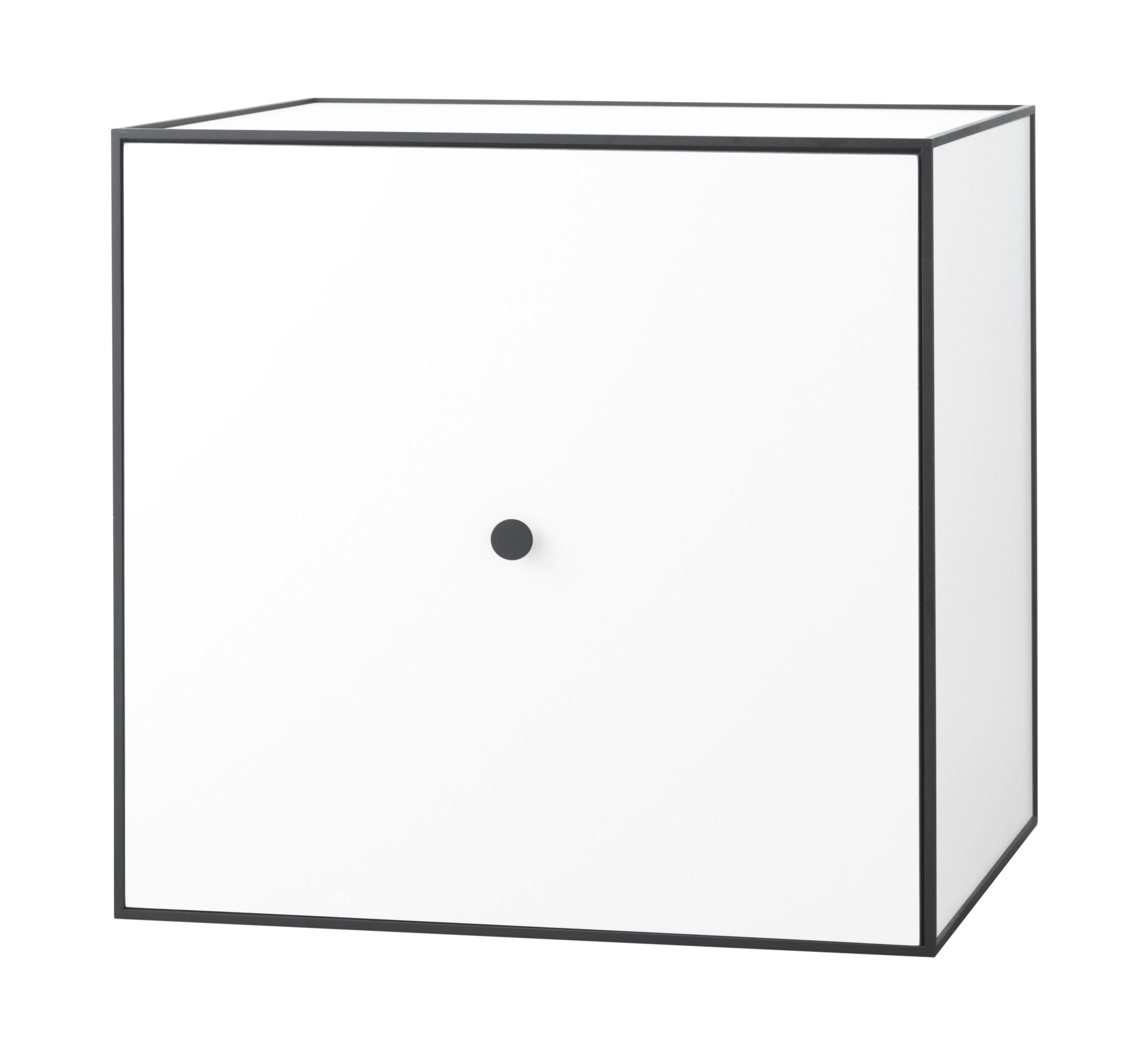 Mobilier - Etagères & bibliothèques - Etagère Frame / Boîte - 49x49 cm - by Lassen - Blanc - Mélamine, Métal laqué époxy