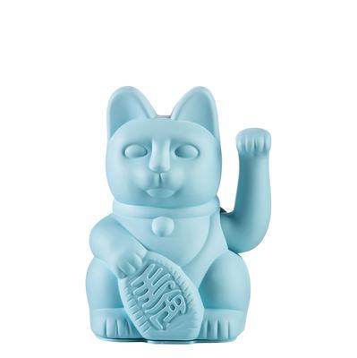 Image of Figurina Lucky Cat - / Plastica di Donkey - Blu - Materiale plastico
