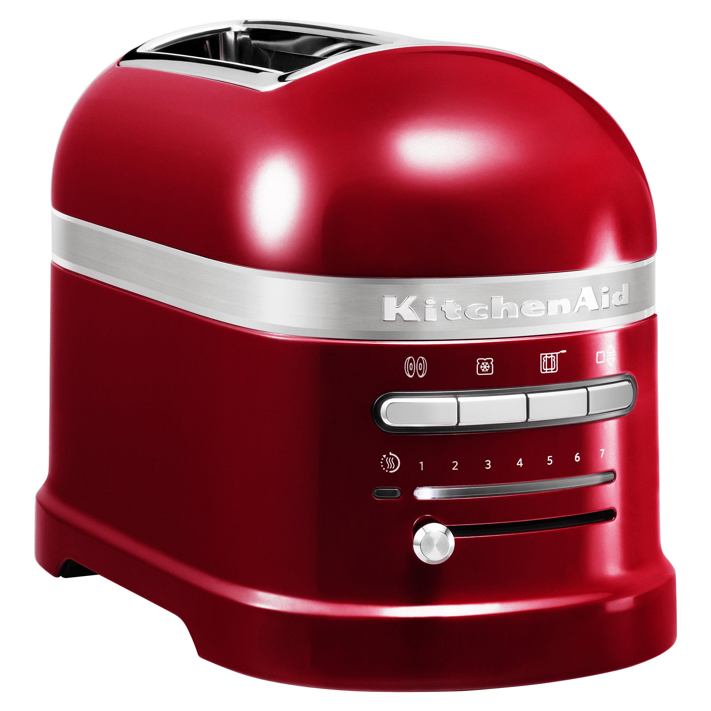 Cuisine - Electroménager - Grille-pain Artisan / 2 tranches - Capteur de chaleur électronique - KitchenAid - Rouge pomme d'amour - Aluminium moulé