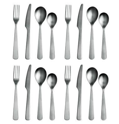 Tableware - Cutlery - Normann Kitchen cupboard - Cutlery gift box 16 pcs by Normann Copenhagen - Mat steel - Steel