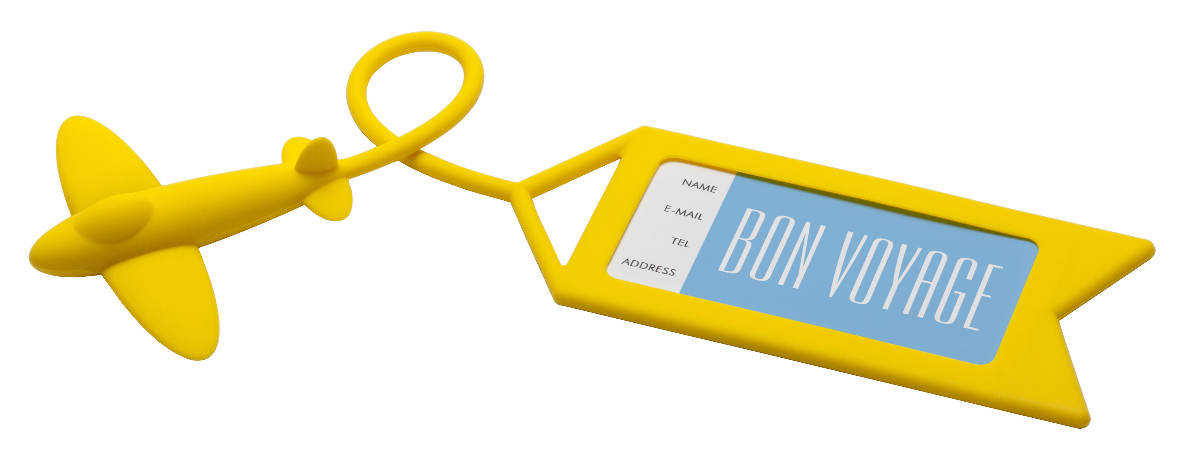 Accessoires - Taschen, Kulturbeutel und Geldbörsen - Tag me Koffer-Etikett - Pa Design - Gelb - Plastikmaterial