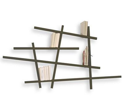 Arredamento - Scaffali e librerie - Libreria Mikado Small - colorata - Modello piccolo di Compagnie - Grigio - Faggio laccato