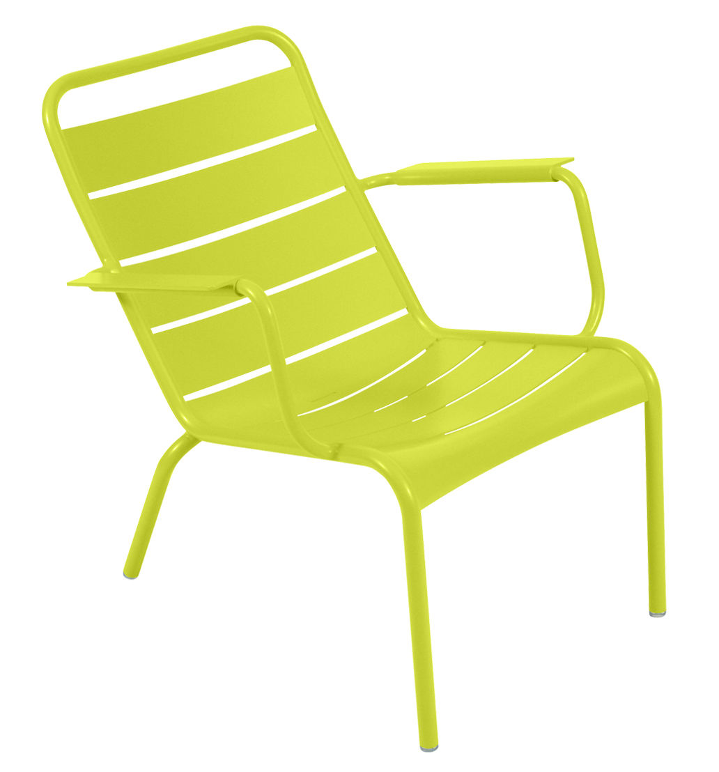 Life Style - Luxembourg Low armchair by Fermob - Verbena - Lacquered aluminium
