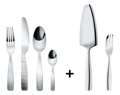 Ménagère 24 pièces Dressed / OFFERT : pelle à tarte + 6 fourchettes gâteau - Alessi acier en métal