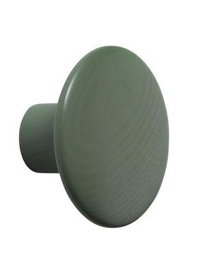 Mobilier - Portemanteaux, patères & portants - Patère The Dots Wood / Small - Ø 9 cm - Muuto - Vert Dusty - Frêne teinté