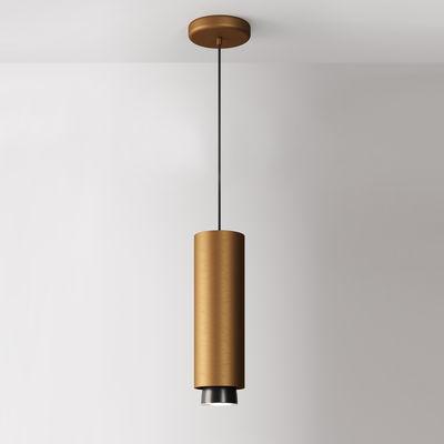 Lighting - Pendant Lighting - Claque LED Pendant - / Ø 10 x H 33 cm by Fabbian - Bronze - Painted aluminium