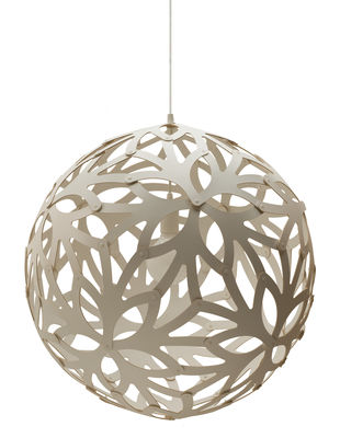 Lighting - Pendant Lighting - Floral Pendant - Ø 40 cm by David Trubridge - White - Pine