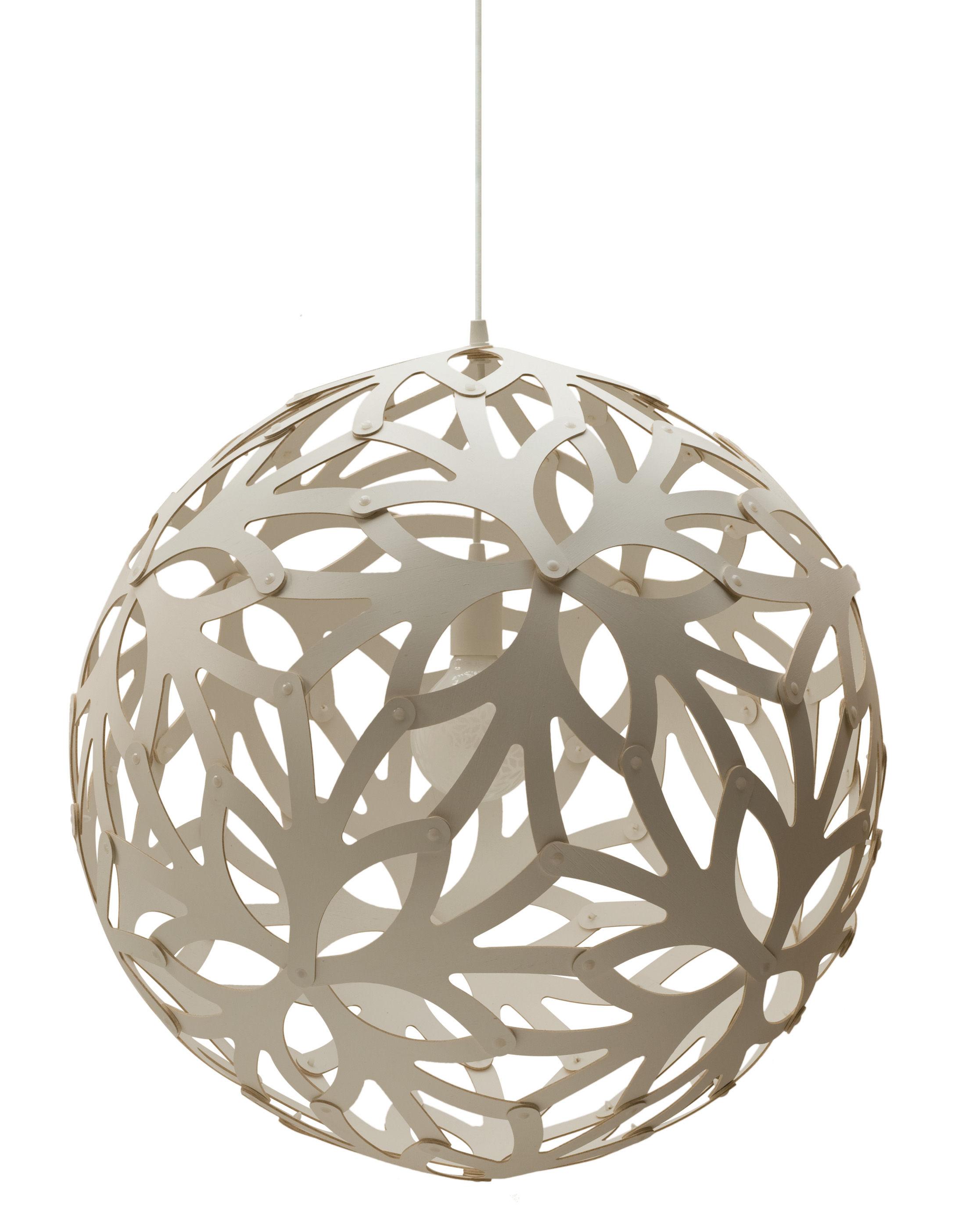 Lighting - Pendant Lighting - Floral Pendant - Ø 40 cm by David Trubridge - White - Pine