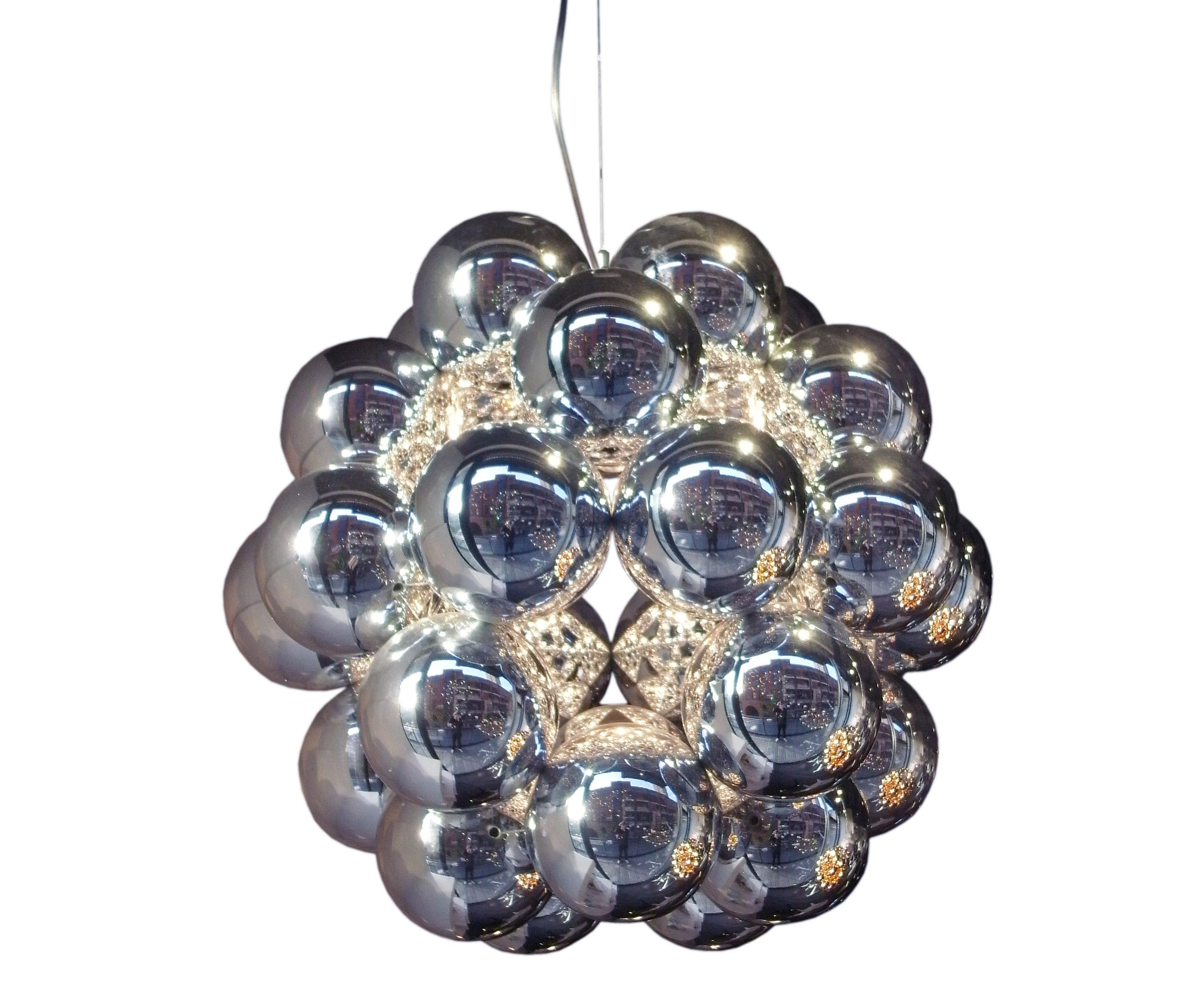Leuchten - Pendelleuchten - Beads - Penta Pendelleuchte Ø 54 cm - Innermost - Silberfarben - Polykarbonat, rostfreier Stahl